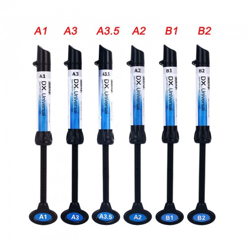 5 Pcs Dental Light Curing Composite Resin Refill Syringe Dentex A1 A2 A3 A3.5 B1 B2