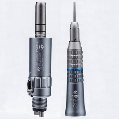 TOSI Dental Low Speed Straight Nose Handpiece + Air Motor 2/4 Holes