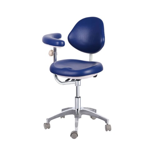 Mobile Dental Medical Stools Doctors Stools Adjustable Chair PU QY600 Dark Blue
