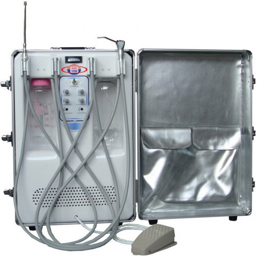 BD-406A Portable Dental Turbine Unit(Air Compressor+Suction System+Triplex Syringe)