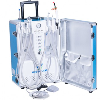 Greeloy® GU-P206S Portable Dental Unit with Air Compressor + Curing Light + Scal...