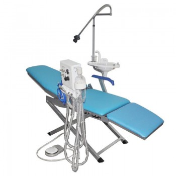 Portable Dental Chair Unit +LED Light Lamp+Triplex Syringe+Suction+Turbine Unit