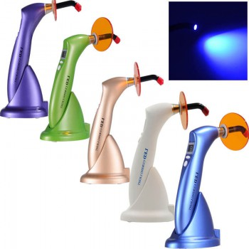 Dental Wireless LED Curing Cure Lamp light Cordless 1500mw 5 Color