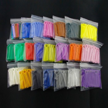 10 Packs Dental Orthodontic Elastic Ligature Ties 36 Colors for choose