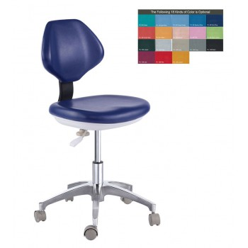 PU Leather Medical Mobile Dental Dentist's Chair Doctor's Stool Chair QY90G