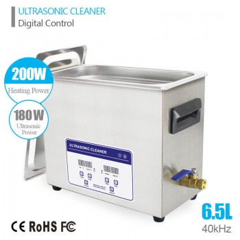 6.5L Ultrasonic Cleaner Machine ultrasound Solution Jewelry Circuit Board Gun Pa...