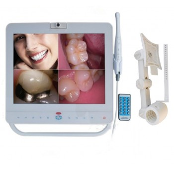 15 Inch Wired Dental Monitor Intra Oral Camera System VGA+VIDEO port With LCD ho...