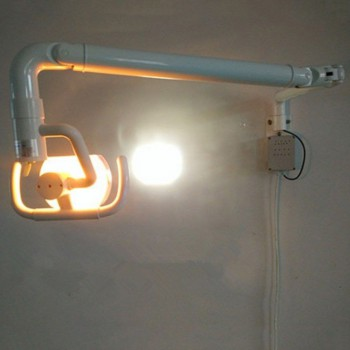50W Wall Hanging Dental Medical Oral Halogen Light Lamp with Arm Shadowless Cold Light