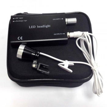 Portable Clip-on LED Head Light Lamp fit Dental Clinical Medical Binocular Loupes