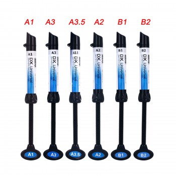 5 Pcs Dental Light Curing Composite Resin Refill Syringe Dentex A1 A2 A3 A3.5 B1...