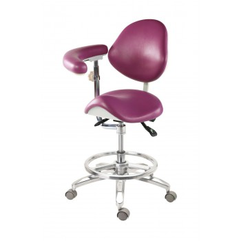 Medical Dentist Nurse Saddle Chair Luxury Mobile Doctors Stool PU Leather QY-MA-...