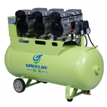 Greeloy GA-63 Ultra Quiet 2.5HP 90L Dental Air Compressor with Check Valve