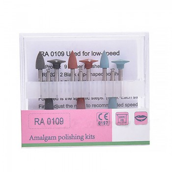 5 Boxes Dental Lab Silicon Polishing Burs Kit For Amalgam Tips Cups 2.35MM RA0109