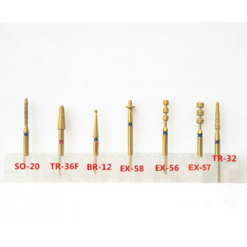 7 Pcs Dental Preparation Burs Porcelain Veneer Dental Burs