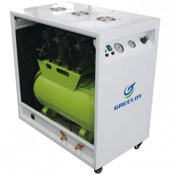 Greeloy® GA-82X Dental Oilless Air Compressor Oil Free With Silent Cabinet
