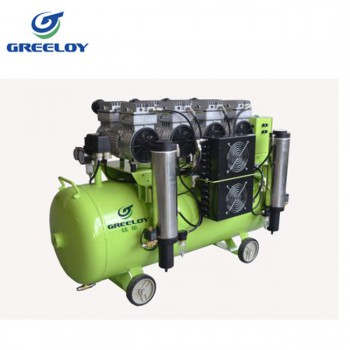 Greeloy® GA-84Y Dental Oilless Oil Free Air Compressor with Silent Cabinet