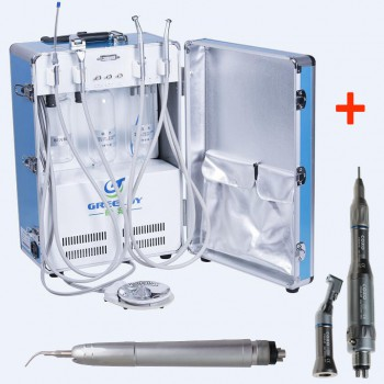 Greeloy® GU-P204 Portable Dental Unit + Handpiece Kit + Air Scaler