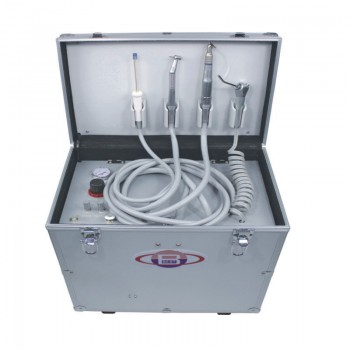 BD-402 Portable Dental Turbine Unit with Air Compressor +Suction System + Triple...