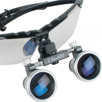 Dentist Dental Surgical Medical Binocular Loupes 2.5X 420mm Loupe Magnifier