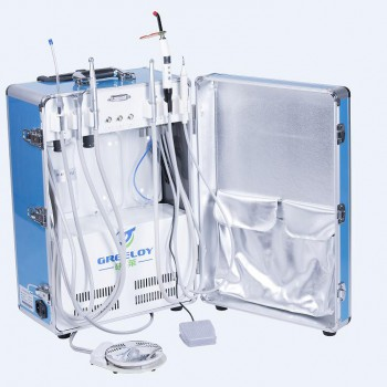 Greeloy® GU-P206 Portable Dental Unit with Air compressor (with curing light and scaler handpiece)