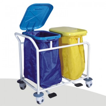 ZL® ZL-J-W12 Dental Waster Collecting Cart (Stainless Steel Trolley)