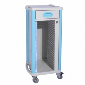 ZL® ZL-J-B70 Mobile Dental Records Cabinets Medical Lab Use ABS