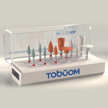12Pcs Toboom® RA0112D Polishing Kit for Zirconia
