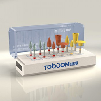 Toboom® RA0512D 10pcs Dental Lab Polishing Kit for Alloy