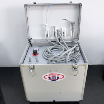 BD-402B Dental Portable Unit+Air Compressor+Suction+Triplex Syringe+HP Tubes
