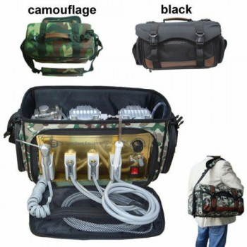 Portable Dental Unit Backpack with Compressor + 3 Way Syringe + Suction + Tube 4H