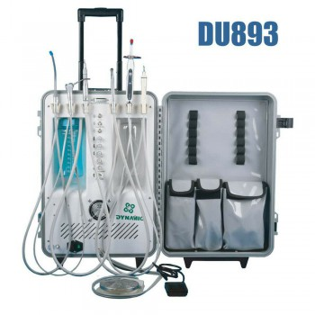 Dynamic® DU893 Portable Dental Unit With Air Compressor Ultrasonic Scaler LED Curing Light
