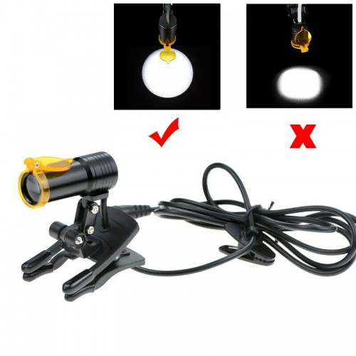 Dental Medical 5W LED Head Light with Filter Clip-on Headlight for Loupe