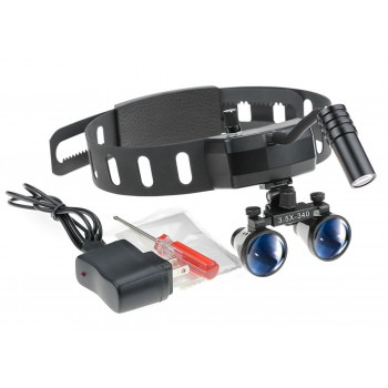 5W Dental Headband Wireless LED Headlight with 3.5X Binocular Loupes