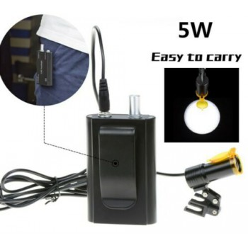 Dental 5W LED Head Light + Filter & Belt Clip for Binocular Loupe