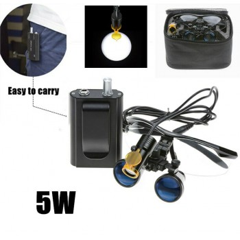 Dental 5W LED Head Light with Filter and Belt Clip + 3.5X Binocular Loupe