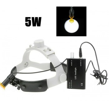 Dental Medical 5W LED Headlamp w/ Filter Headband Headlight ENT Oral Gynecology