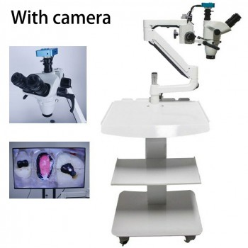 5W Trolley Type Dental Endo Therapy Operating Microscope Loups with Camera