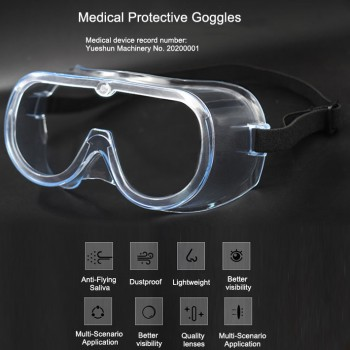 5Pcs Medical Protective Goggles Splash Safety with Clear Anti Fog Lenses Anti-Sa...