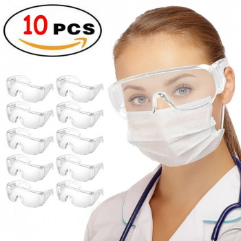 10Pcs Clear Safety Goggles Anti Fog Lens Dental Lab Medical Protective Glasses