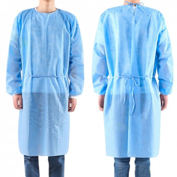 10pcs Disposable Bandage Coveralls Surgical Gown Dust-proof Isolation Clothes La...