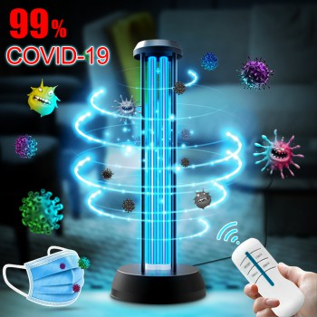 36W UV+Ozone Light Sanitizer UV-C Disinfection Portable Germicidal Lamp