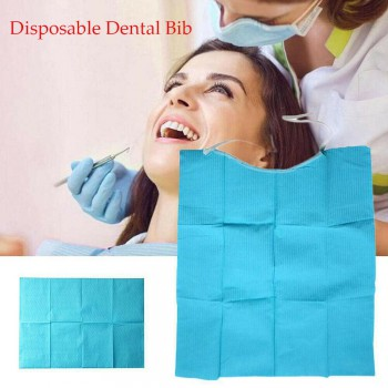 300pcs Waterproof Disposable Dental Bib Tie For Dental Oral Hygiene Treatment