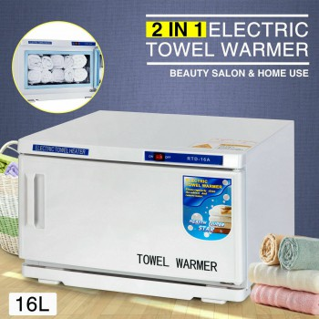 2in1 UV Sterilizer Facial Hot Towel Warmer Cabinet Spa Salon Beauty Equipment