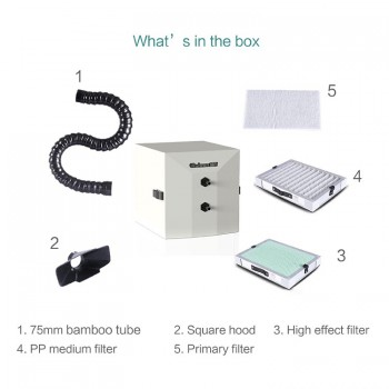 RUIWAN RW80 Pen-link Style Portable Desktop Fume Extractor Soldering Welding 3 Layer Filter