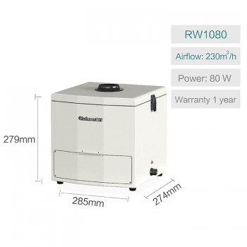 Ruiwan RW1080 Portable Desktop Welding Fume Extractor Soldering Smoke Absorber 3 In 1 Filter