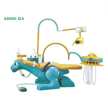 A8000-IIA Pediatric Dental Unit Chair Lovely Dinosaur Chair for Children with 2 Dentist Stools