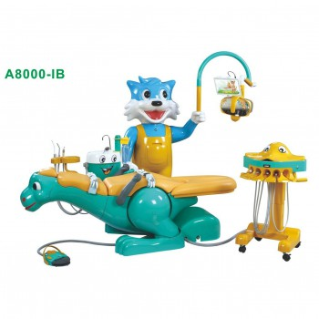 A8000-IB Pediatric Dental Chair Children Dental Unit with Dinosaur Chair &Smiling Cat Side Box
