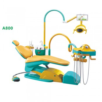 A800 Cartoon Design Pediatric Dental Chair Children Dental Unit with Cartoon Fish Operating Unit