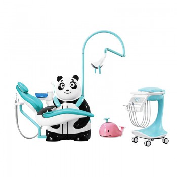 Cute comfortable children dental chair Panda shape and ocean style dental chair for children
