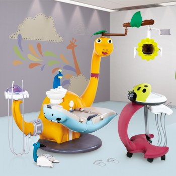 BS-AYC5 Lovely Pediatric Dental Chair Dinosaur Children Dental Unit CE Approved